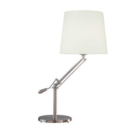 Infusion Adjustable Table Lamp Satin Chrome INF4046 (Class 2 Double Insulated)